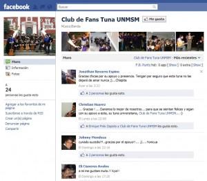Club de Fans en Facebook