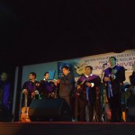 Reconocimiento en escenario del Alcalde